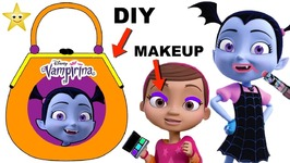Vampirina Tries on Makeup DIY PAPER PURSE CRAFT GAME - Surprise Toys - Num Noms Series 5
