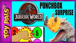 Jurassic World Toys DINOSAUR GAME  Punchbox Surprise Toys Challenge With Toy Dinosaurs