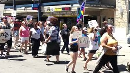 Demonstrators March for Trump Impeachment in Ann Arbor