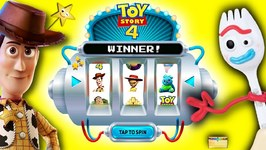 Toy Story 4 JACKPOT SPIN GAME Will Forky get slimed or win surprise toys?