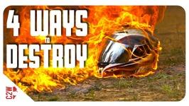 4 Ways to DESTROY a MOTORCYCLE HELMET