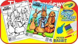 McDonalds Peter Rabbit Movie Happy Meal Coloring Page Crayola Unboxing Toy Review