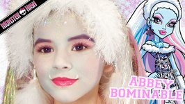 Abbey Bominable Monster High Doll Halloween Costume Makeup