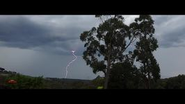Lightning Bolts Strike During Storm at Cockatoo