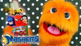 50 Mashems And Fashems Opening - Video For Kids With Spiderman Venom Batman And Superman