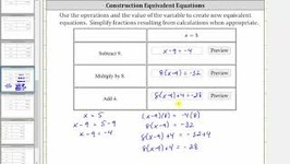 Determine Equivalent Equations Given x  a (3 Operations) Ex 2