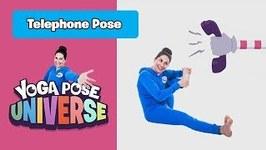 Telephone Pose - Yoga Pose Universe
