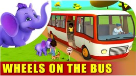 Wheels On The Bus - English Nursery Rhyme For Children