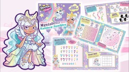 Shopkins Shoppies Meet Mystabella and Rainbow Sparkles Activity Book And Puzzle Coloring