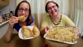 Indian Lamb Biryani And Samosas /Gay Family Mukbang - Eating Show