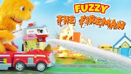 BIGGEST Fire Truck Toys for Children Fuzzy the Fireman!