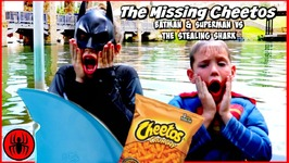 The Missing Cheetos - Batman and Superman vs The Stealing Shark in Real life comic