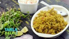 Pudina Pulao-Spicy Mint Rice