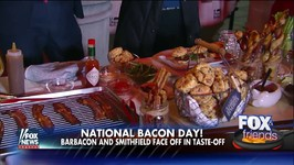 Fox And Friends National Bacon Day Live TV Segment