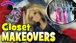 Barbie Doll Closet Makeover Thrift Store Finds