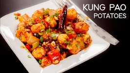 Kung Pao Potatoes - Chilli Potato Chinese Indo Style