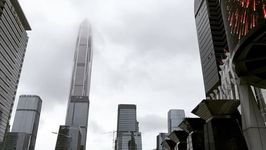 Shenzhen Skyscrapers Covered in Clouds as Typhoon Approaches China