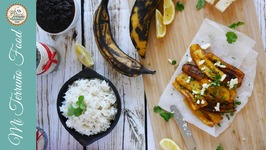 Sweet Fried Plantains With Feta Cheese And Coriander