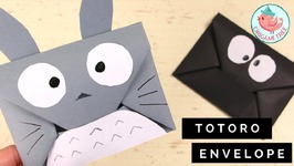 How to Make an Origami Envelope Tutorial - Easy DIY Totoro Origami Envelope - Paper Crafts for Kids