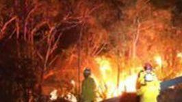 Timelapse Footage Shows Firefighters Battling Blaze in 'Strange' Winds