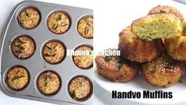 Instant Handvo Muffins Kids Lunchbox