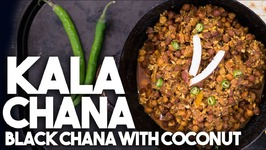 KALA CHANA - Black Garbanzo beans with Coconut