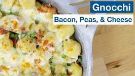 One - New - Pan Gnocchi With Bacon, Peas, And Cheese