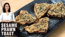 Prawn Toast Recipe - How To Make Sesame Prawn Toast - Shrimp Toast - Prawns Recipe By Tarika Singh