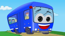 Wheels on the bus - Blue Bus