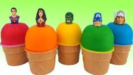 Learn Colors Play Doh Superhero Hulk - Nursery Rhymes Kids TV Surprise Eggs