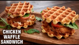 Chicken Waffle Sandwich / How To Make Fried Chicken Waffle Sandwich / Sandwich Recipe By Tarika