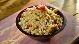 Crispy Sabudana Bhel - Crispy Sago Bhel - Crispy Sabudana Mixture - Quick And Easy Chaat