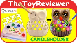 Genius Art Owl Candle Holder DIY Painting Kit Craft Art Paint Unboxing