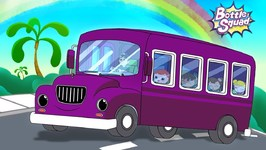 Wheels On The Bus - Rhymes For Kids  Baby Songs - Kids Cartoon Videos - Superhero Kids