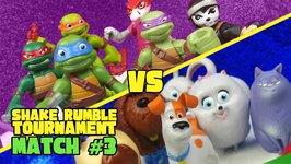 The Secret Life Of Pets Vs Ninja Turtles Toys Shake Rumble Tourney Match 3