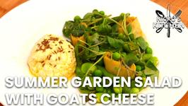 Summer Garden Salad With Goats Cheese / Vegetarian Recipe