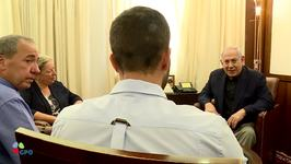 Netanyahu Meets Israeli Ambassador to Jordan and Injured Security Guard