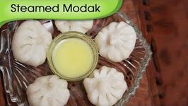 Ukdiche Modak - Steamed Modak - Sweet Coconut Dumpling - Ganesh Festival Special Sweet Dish