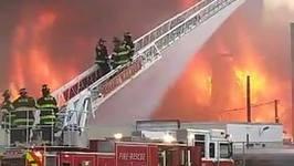 Firefighters Battle Huge Blaze in Waltham Construction Site