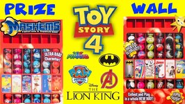 Mashems GIANT PRIZE WALL GAME w/ TOY STORY 4  New LION KING Mashems
