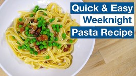 Pasta With Bacon And Peas - Not Carbonara Recipe