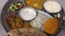 Indian Food At Hindu Temple - Indian Veg Thali - What I Ate At The Langar