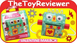 Make Your Own Valentine Mailbox Robot Darice Letter Box Mail Unboxing Toy Review