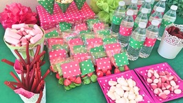 Prepara la decoración de una fiesta...utilizando sólo un rollo de papel de regalo!