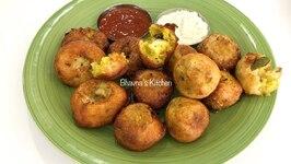 Leftover Dosa Batter And Aloo Masala Vadas Or Punugulu Monsoon Snack