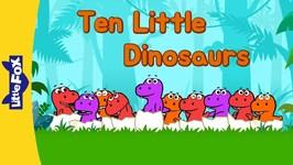 Ten Little Dinosaurs - Learning Songs - Animated Songs for Kids