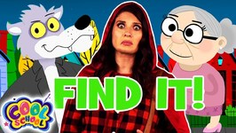 Find the Grandmas! Little Red Riding Hood Story with Ms. Booksy - Find It Game - Cartoons for Kids