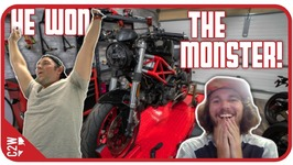 The Ducati Monster goes to....Giveaway Reactions