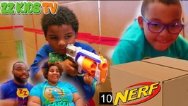 Zz Kids Big Box Fort Nerf Maze Challenge!