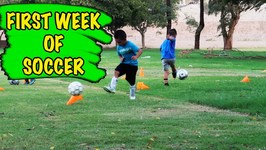 FIRST WEEK OF SOCCER PRACTICE FOR DEION